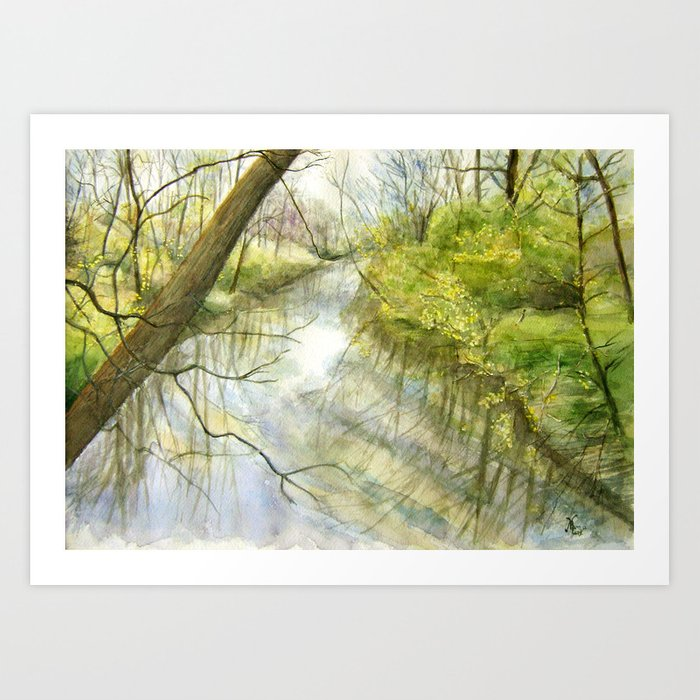 Root River at Racine Art Print