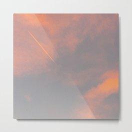 Contrail Clouds Metal Print