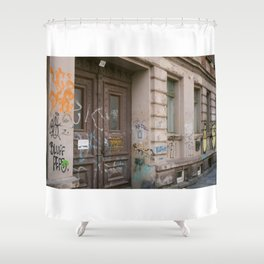 No Entry Shower Curtain