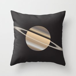 The Planet Saturn With Rings Throw Pillow