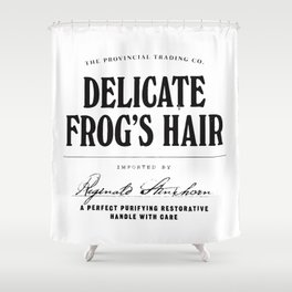 Delicate Frog's Hair Shower Curtain
