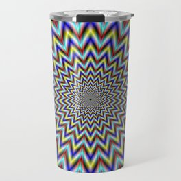Pulsar in Red Yellow and Blue Travel Mug
