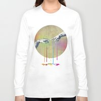 evil Long Sleeve T-shirts featuring But deliver us from evil by Angelo Cerantola