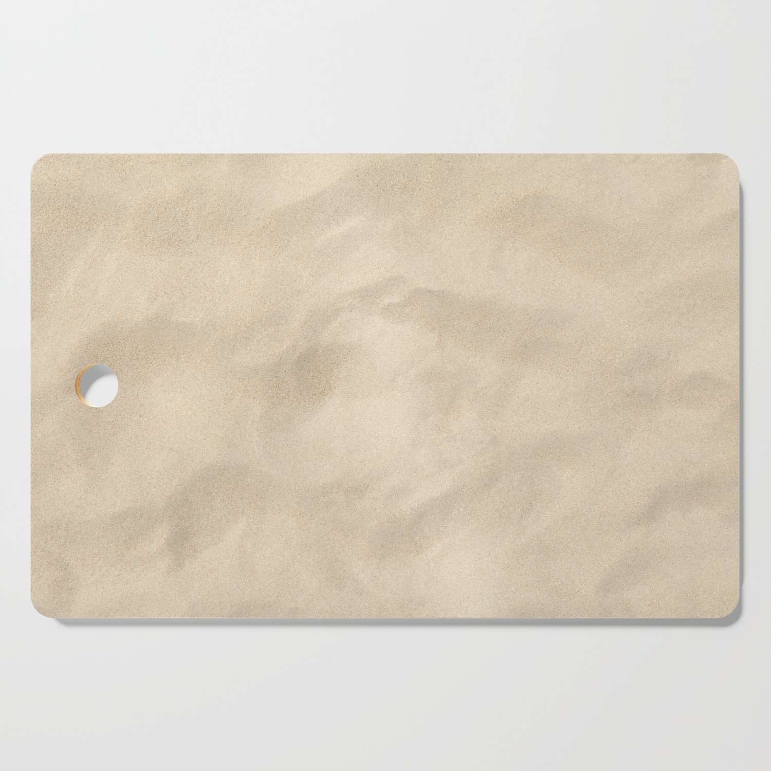 Light Brown Sand Texture Cutting Board By Moonfluff