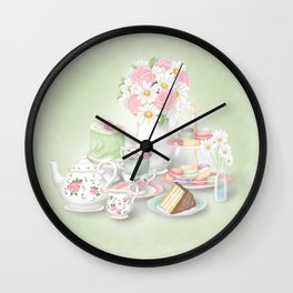 Tea Party Dessert Setting Wall Clock