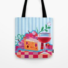 Wine & Cheese Party Tote Bag