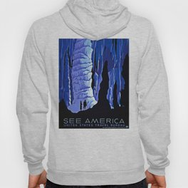 See America blue grotto vintage travel Hoody