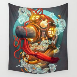Deep Sea Diver Wall Tapestry