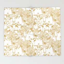 just goats gold Throw Blanket