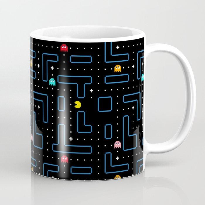 Pac-Man Retro Arcade Video Game Pattern Design Kaffeebecher