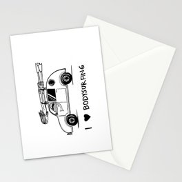 I HEART BODYSURFING Stationery Cards