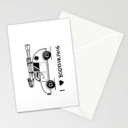 I HEART BODYSURFING Stationery Cards