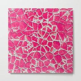 Pink broken glass texture Metal Print