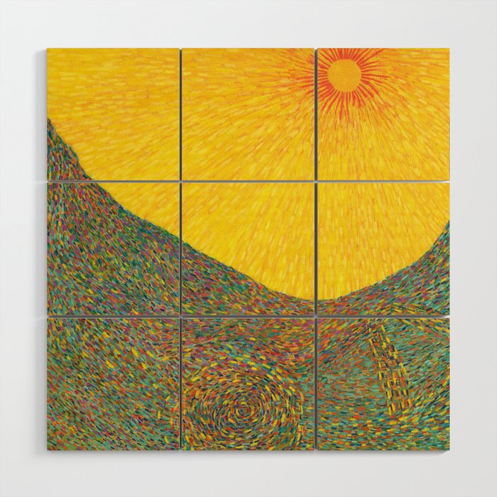 Here Comes The Sun Van Gogh Impressionist Abstract Wood Wall Art