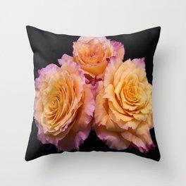 Orange Free Spirit Roses Throw Pillow