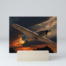 A Fighter Plane Returns Home Mini Art Print