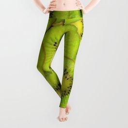 Green kiwis Leggings