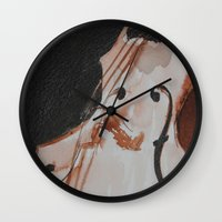 violin Wall Clocks featuring violin by Anja Kidrič AdAk