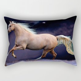 horse galloping Rectangular Pillow