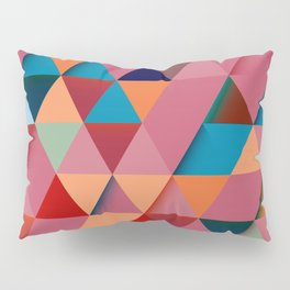 Colorfull abstract darker triangle pattern Pillow Sham