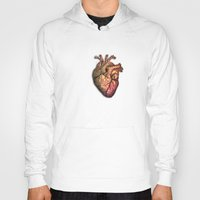 anatomical heart Hoodies featuring Anatomical heART by Li9z