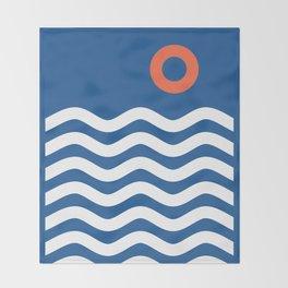Nautical 03 Seascape Throw Blanket