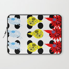 THE BIRDS! funky flying feathers Laptop Sleeve