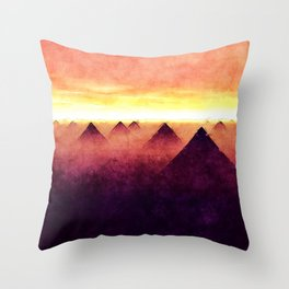 Pyramids At Sunrise Throw Pillow