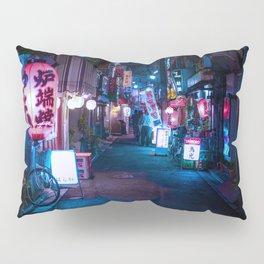 Japan Neon Wallpaper, Japan Neon Street Wall Art, Japanese Wall Art Pillow Sham