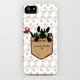 Toothless a viking dragon iPhone Case