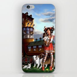 Gothic Lolita in the Shoe with Dogs iPhone Skin