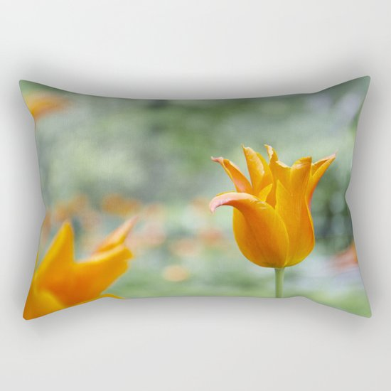 Tulips in orange Rectangular Pillow
