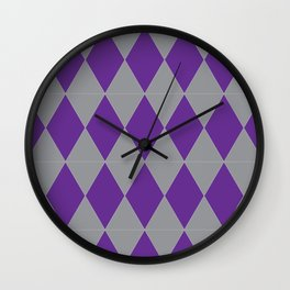 Silver and Purple Wall Clock