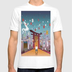 Lost in Time MEDIUM Mens Fitted Tee White