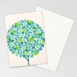 Mid Century Lime Tree Stationery Cards