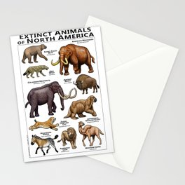 Extinct Animals of North America Stationery Cards
