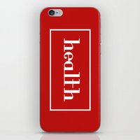 health iPhone & iPod Skins featuring Health by davzoku
