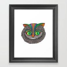 Alice´s cheshire cat by Luna Portnoi Framed Art Print