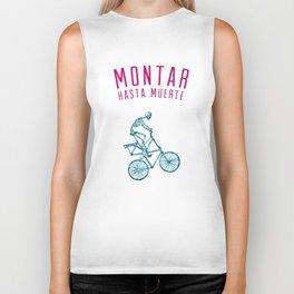 "Skeleton Bike - ""Montar Hasta Muerte"" Biker Tank"