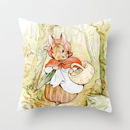 Beatrix Potter, Rabbit Throw Pillow