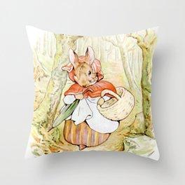 Beatrix Potter, Rabbit Throw Pillow