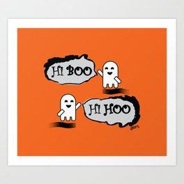 Cute Little Ghosts Art Print