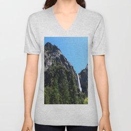 The Yosemite Park Bridal Veil Falls Unisex V-Neck