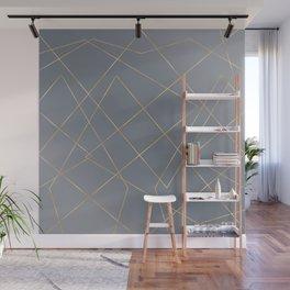Gold Geometric Strokes Gray Gradient Modern Design Wall Mural