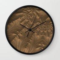 renaissance Wall Clocks featuring Renaissance Brown by Charma Rose