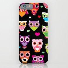 Owl cuteness colorful bird pattern parade iPhone 6 Slim Case