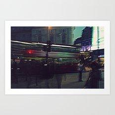 A surreal Oxford Street-London Art Print