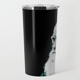 Portrait pop art Charles Darwin Travel Mug