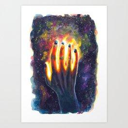 Hand study #4. Touch the stars Art Print