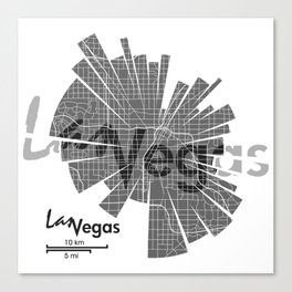 Las Vegas Map Canvas Print